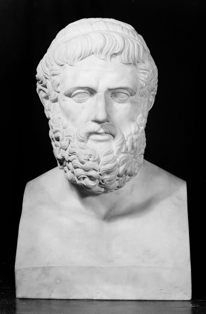 M0015415 Sophocles, from the bust in the Lateran, Rome.