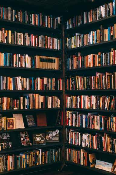 books filed neatly on shelves